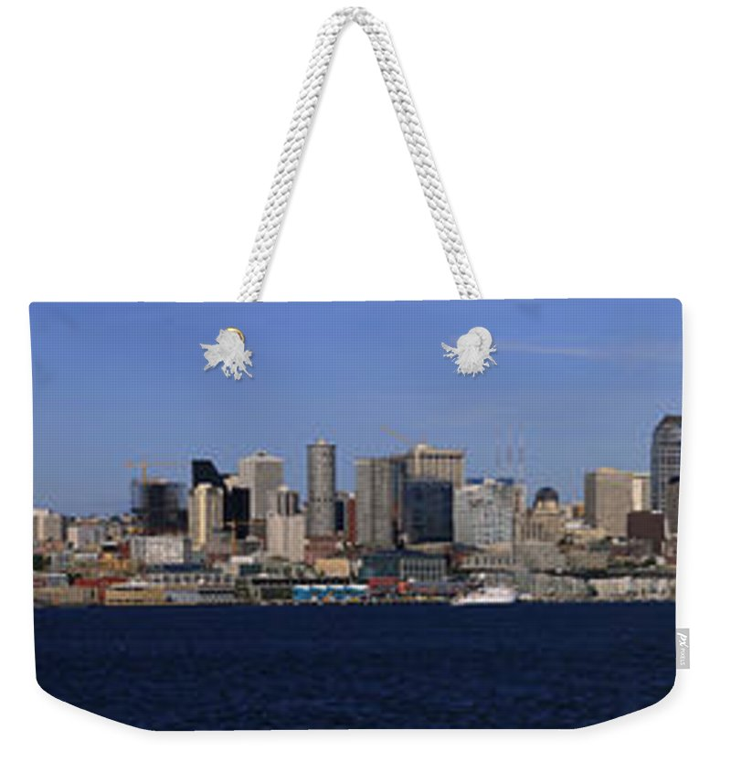 3scape Weekender Tote Bag featuring the photograph Seattle Panoramic by Adam Romanowicz