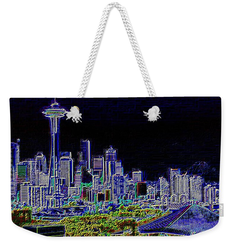 Seattle Weekender Tote Bag featuring the photograph Seattle Quintessence by Tim Allen
