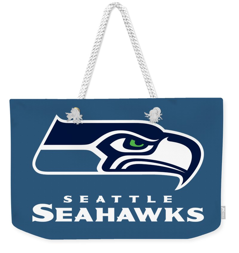 Seattle Seahawks Weekender Tote Bag featuring the photograph Seattle Seahawks by Mitro Dente