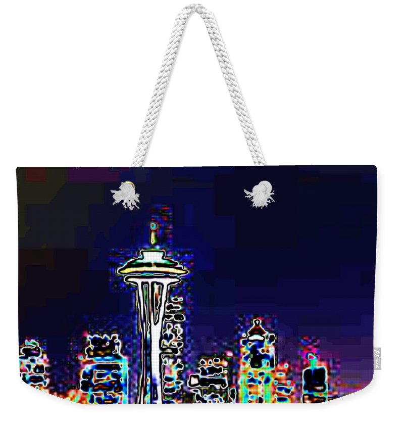 Seattle Weekender Tote Bag featuring the photograph Seattle Skyline by Tim Allen