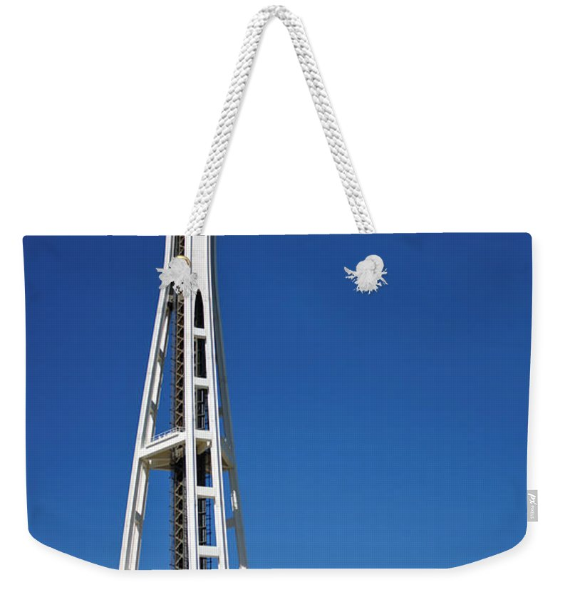 3scape Weekender Tote Bag featuring the photograph Seattle Space Needle by Adam Romanowicz