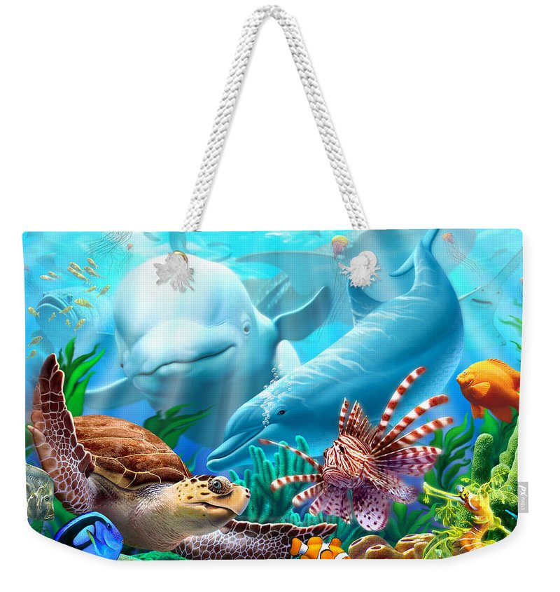 Ocean Life Weekender Tote Bags