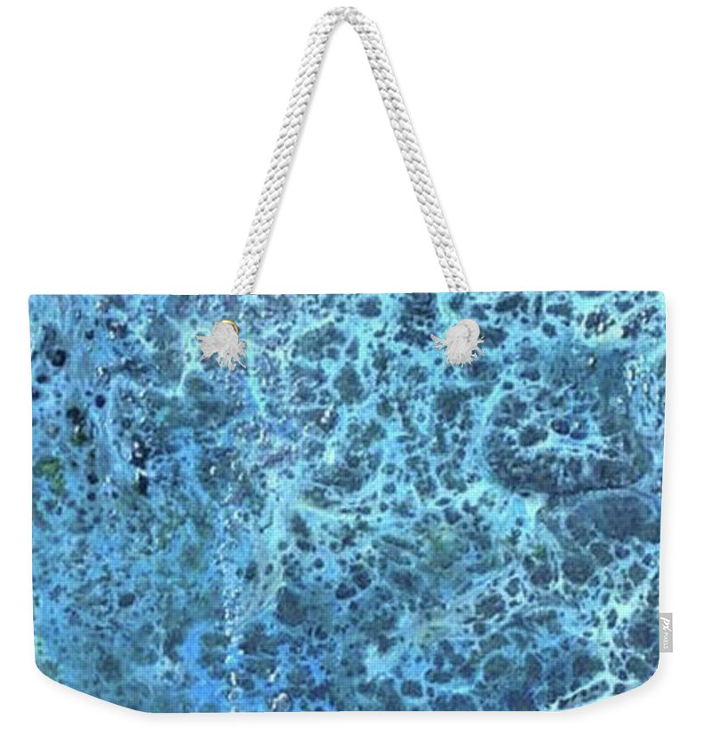 T Fry Green Art Weekender Tote Bag featuring the painting Seawater Froth by T Fry-Green