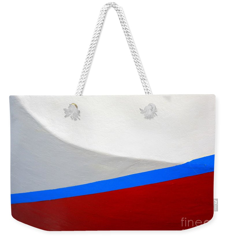 Boat Weekender Tote Bag featuring the photograph Seaworthy by Carol Groenen
