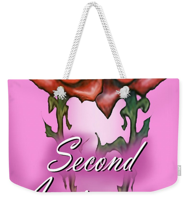 Second Weekender Tote Bag featuring the greeting card Second Anniversary by Kevin Middleton