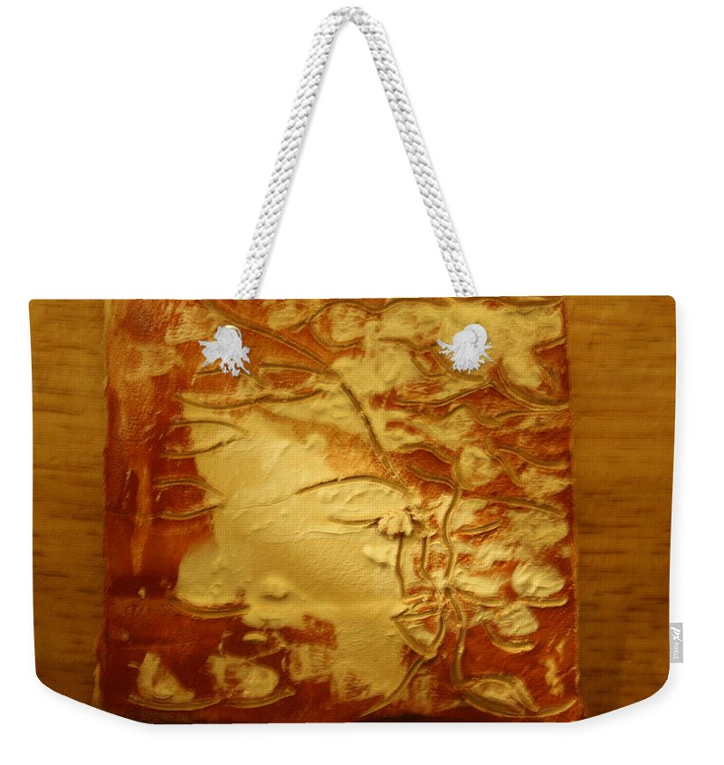 Jesus Weekender Tote Bag featuring the ceramic art Secret - Tile by Gloria Ssali