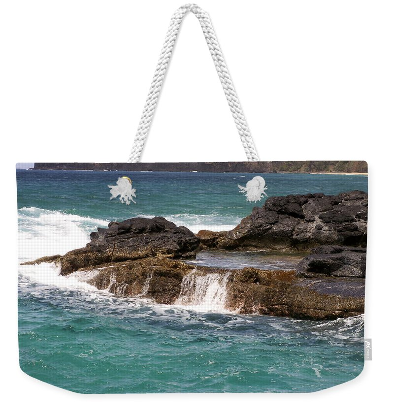 Beach Weekender Tote Bag featuring the photograph Secret Beach by Amy Fose