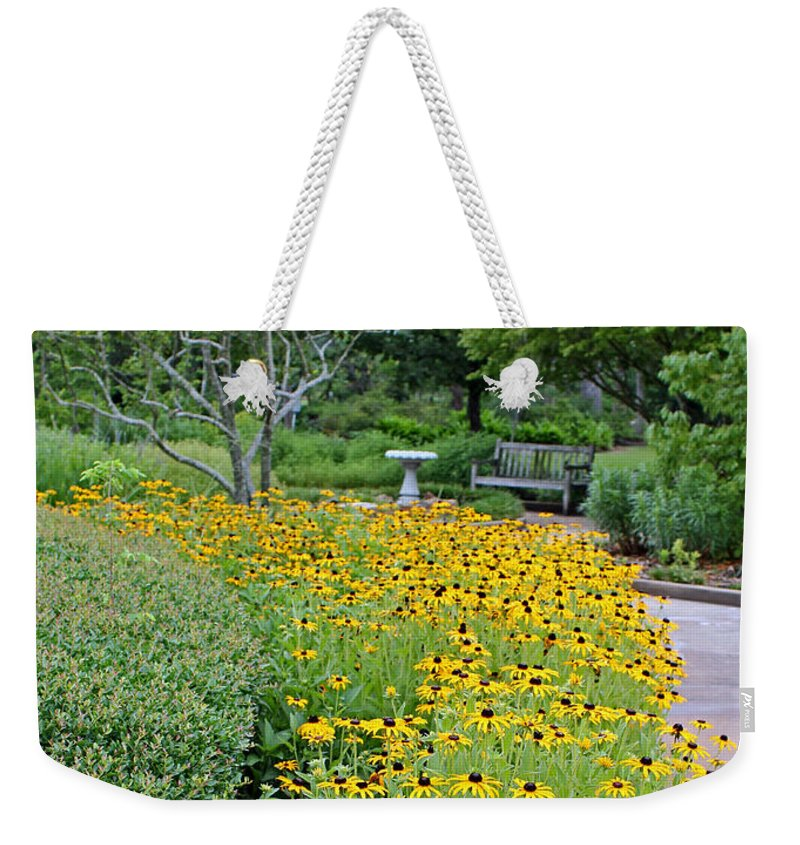 Garden Weekender Tote Bag featuring the photograph Secret Garden by Judy Vincent