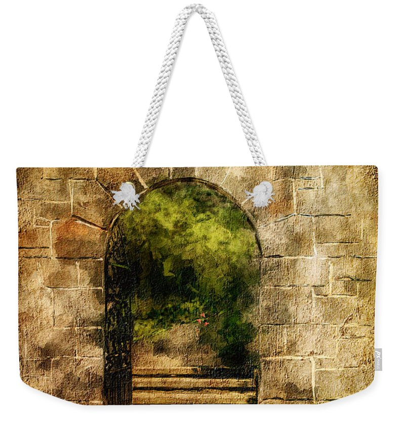 Arch Weekender Tote Bag featuring the photograph Secret Garden by Lois Bryan