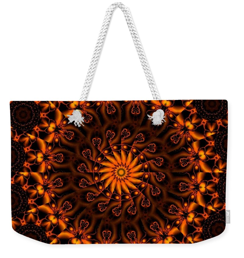 Fractal Weekender Tote Bag featuring the digital art Secret Garden by Robert Orinski