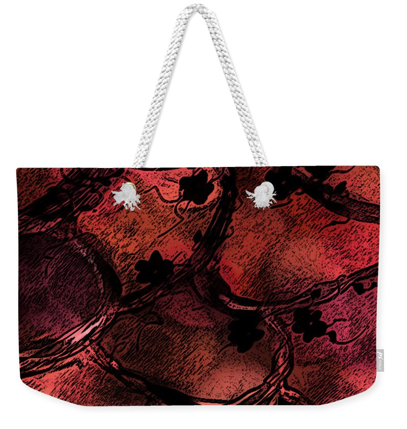 Abstract Weekender Tote Bag featuring the digital art Secret Places by Rachel Christine Nowicki