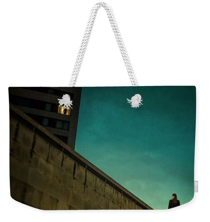 City Weekender Tote Bag featuring the photograph Secret Rendezvous by Carlos Caetano