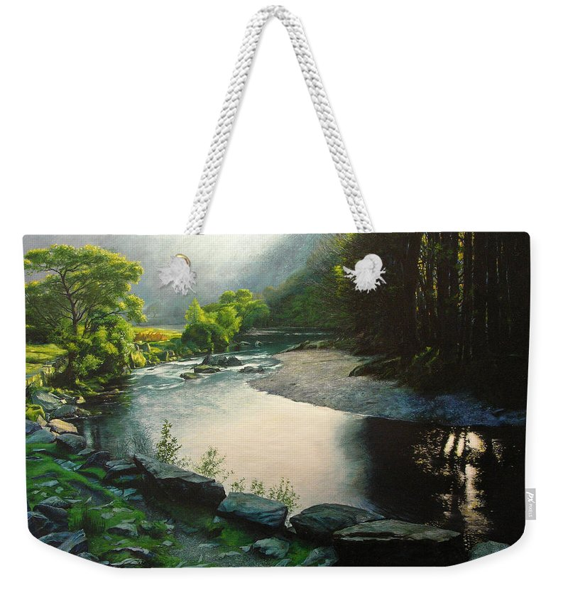 Valley Weekender Tote Bag featuring the painting Secret Valley by Harry Robertson