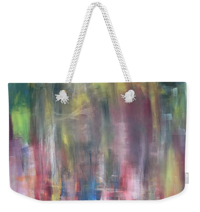 Crazy Weekender Tote Bag featuring the painting Secrets by Cesar Hilario