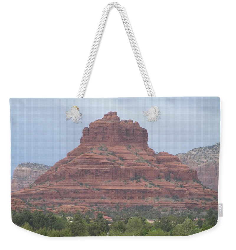 Landscape Weekender Tote Bag featuring the photograph Sedona 3 by Sandra Bourret