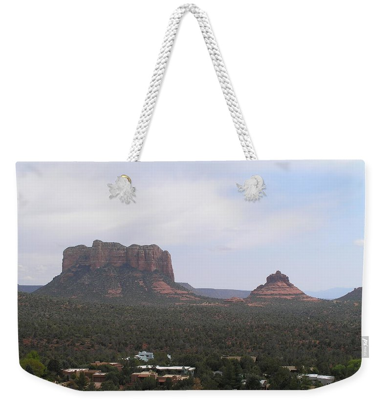 Landscape Weekender Tote Bag featuring the photograph Sedona 7 by Sandra Bourret