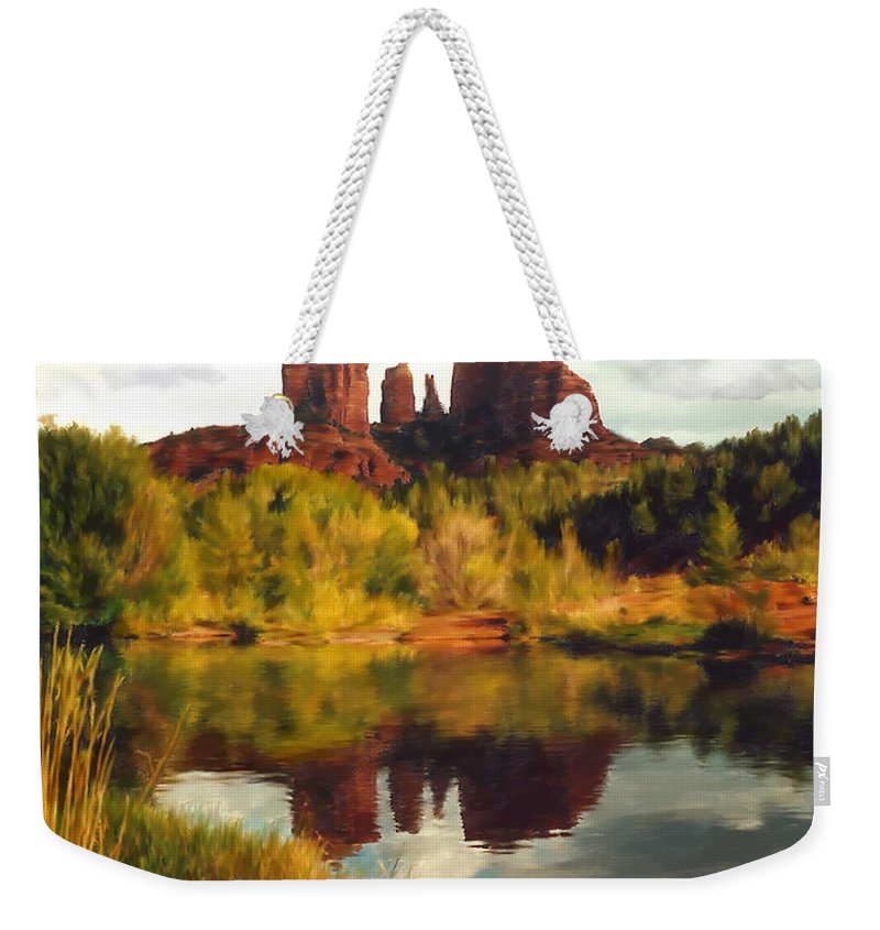 Sedona Weekender Tote Bag featuring the photograph Sedona by Kurt Van Wagner