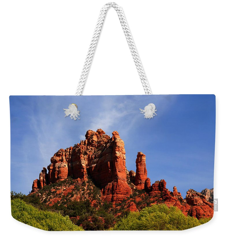 Photography Weekender Tote Bag featuring the photograph Sedona Rocks by Susanne Van Hulst