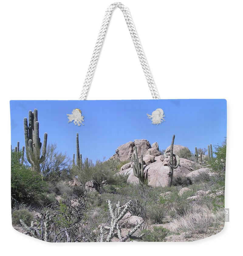 Landscape Weekender Tote Bag featuring the photograph Sedona by Sandra Bourret