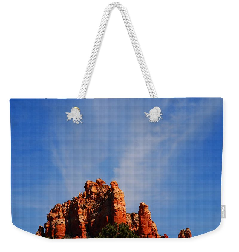 Photography Weekender Tote Bag featuring the photograph Sedona Sky by Susanne Van Hulst
