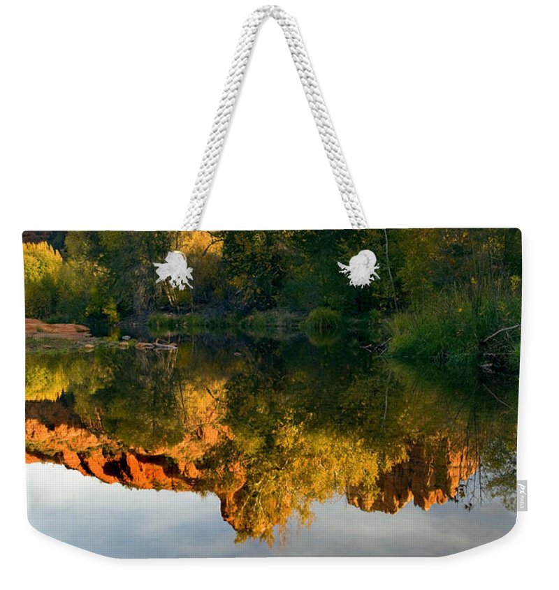 Reflection Weekender Tote Bag featuring the photograph Sedona Sunset by Mike Dawson
