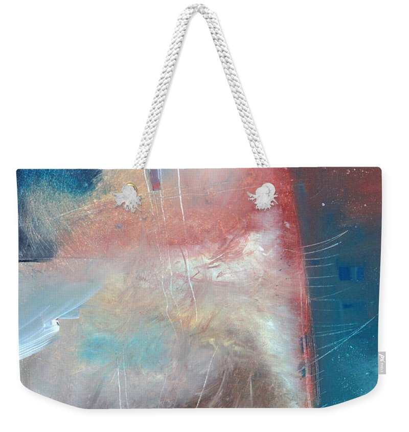 Brown Weekender Tote Bag featuring the painting See What Brown Can Do For You by Tim Nyberg
