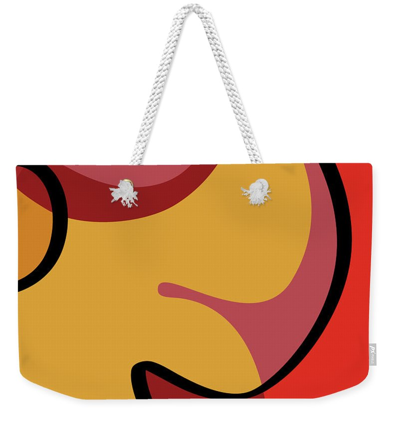 Seed Culture Weekender Tote Bag featuring the digital art Seed Culture - Hibiscus by Ruruflo