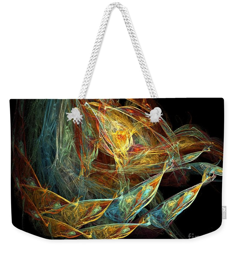 Seed Pod Weekender Tote Bag featuring the digital art Seed Pod by Ron Bissett