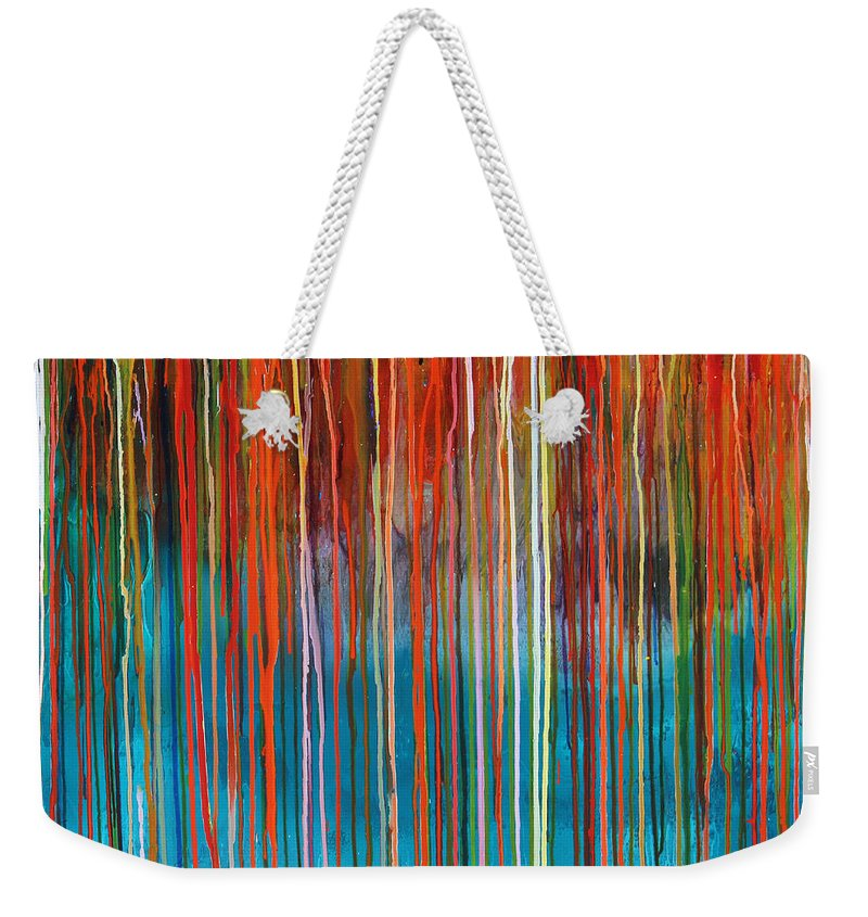 Fusionart Weekender Tote Bag featuring the painting Seed by Ralph White