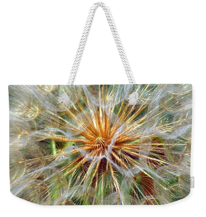 Wildflower Weekender Tote Bag featuring the photograph Seeds by Marty Koch
