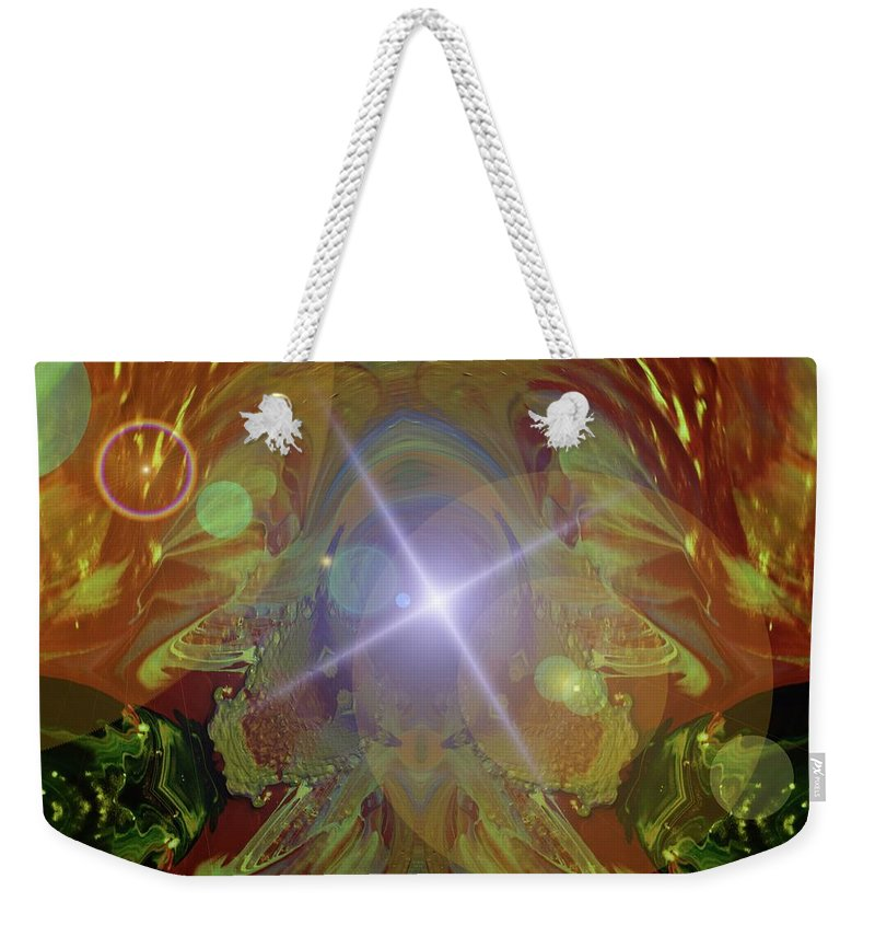 Abstract Weekender Tote Bag featuring the photograph Seeing The Light by Jeff Swan