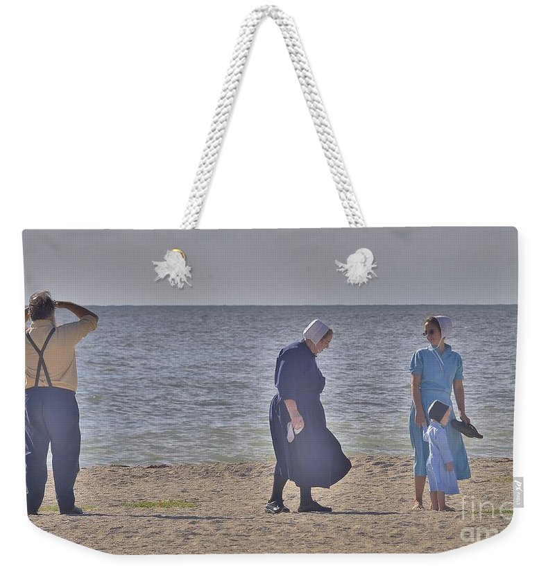 Footsteps Weekender Tote Bag featuring the photograph Seek by Lisa Renee Ludlum