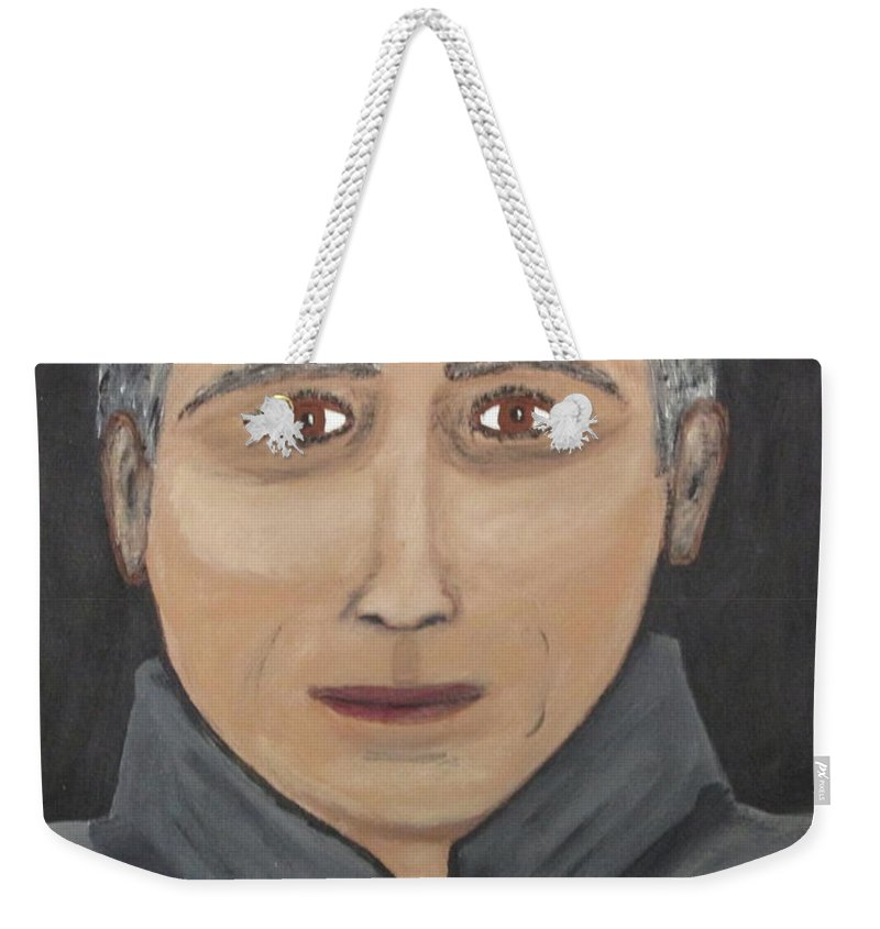 Weekender Tote Bag featuring the painting Self by Jeffrey Koss