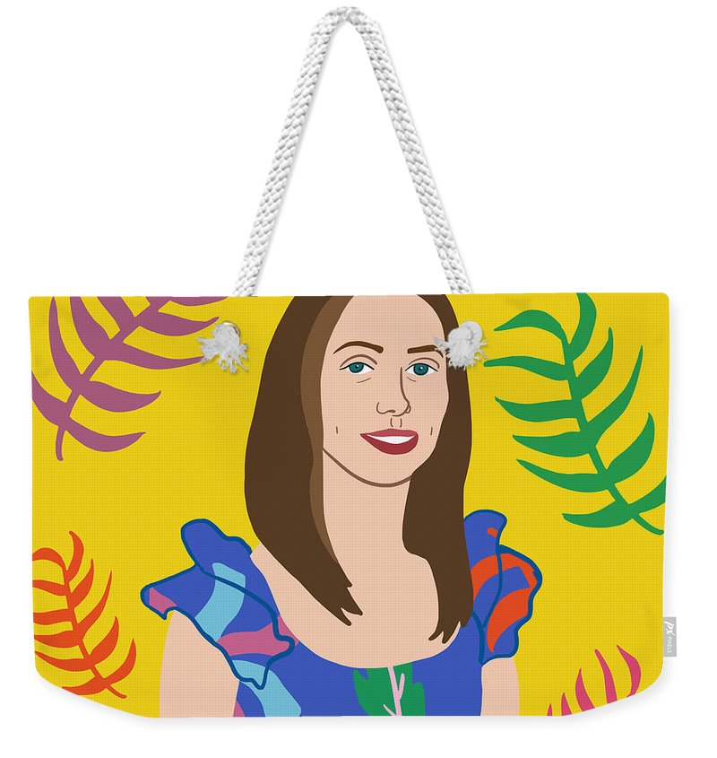 Nicole Wilson Weekender Tote Bag featuring the mixed media Self Portait by Nicole Wilson