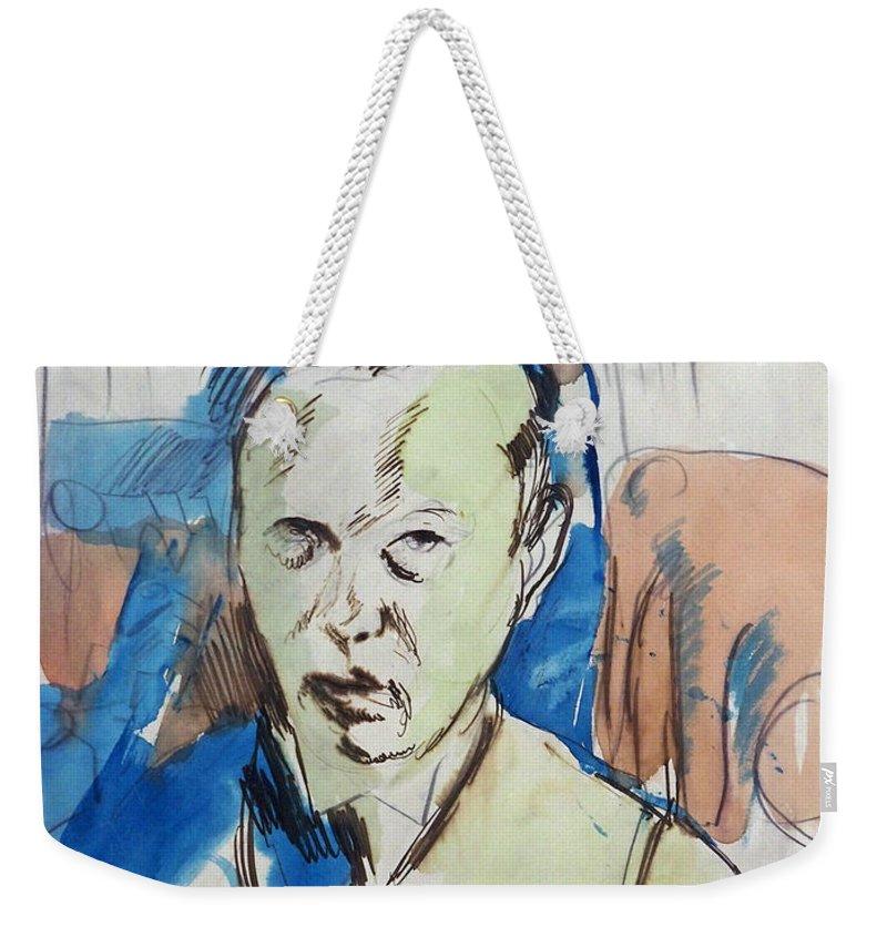 German Painters Weekender Tote Bag featuring the painting Self-portrait by Franz Nolken