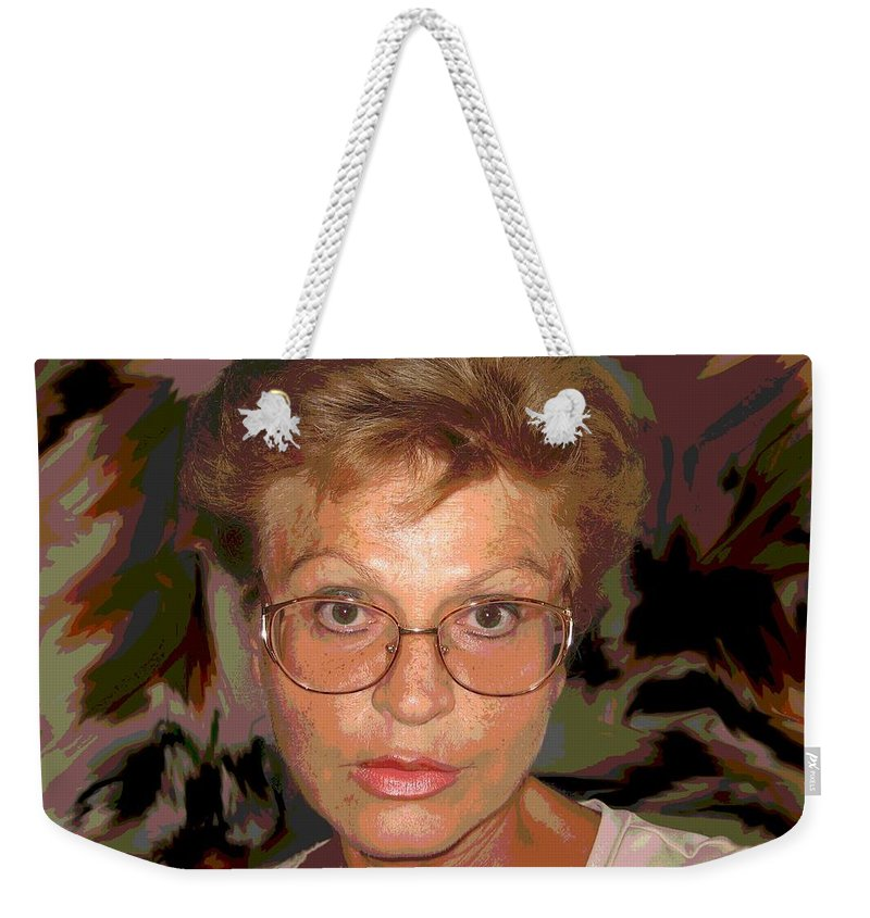 Self Portrait Weekender Tote Bag featuring the photograph self portrait II by Dragica Micki Fortuna