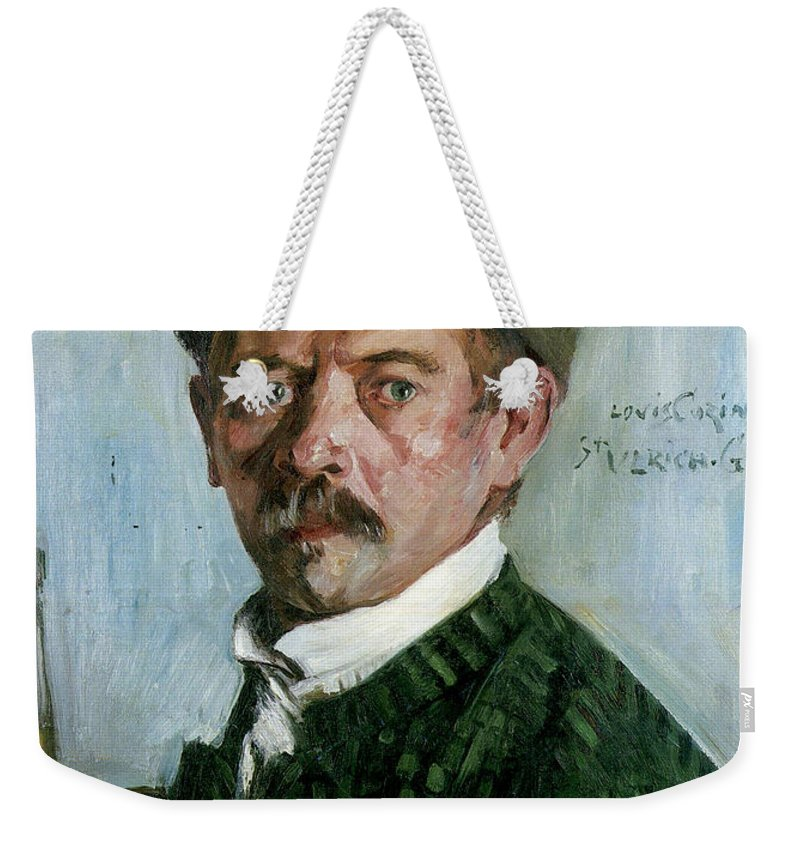 German Painters Weekender Tote Bag featuring the painting Self Portrait With Tyrolean Hat by Lovis Corinth