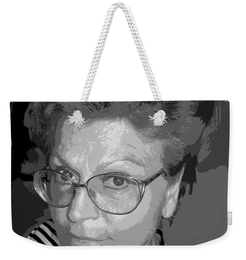 Self Portrait Weekender Tote Bag featuring the photograph selfportrait III by Dragica Micki Fortuna