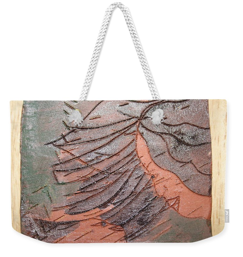 Jesus Weekender Tote Bag featuring the ceramic art Selinas Babe - Tile by Gloria Ssali