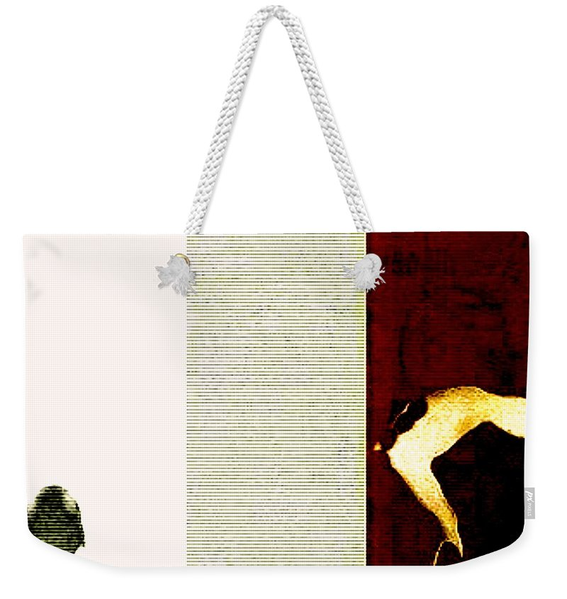 Art Digital Art Weekender Tote Bag featuring the digital art Selling Day - A Trip To The Cattle Market by Alex Porter