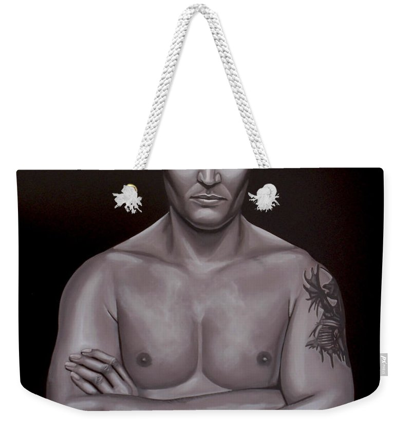 Semmy Schilt Weekender Tote Bag featuring the painting Semmy Schilt by Paul Meijering