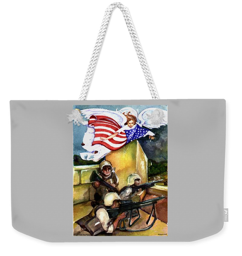 Elle Fagan Weekender Tote Bag featuring the painting Semper Fideles - Iraq by Elle Smith Fagan