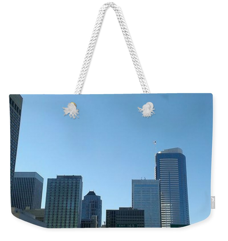 Seattle Weekender Tote Bag featuring the photograph Seneca St Exit by LKB Art and Photography