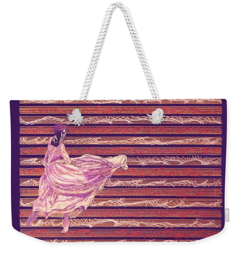 Music Weekender Tote Bag featuring the drawing Senorita Dance by Steve Karol