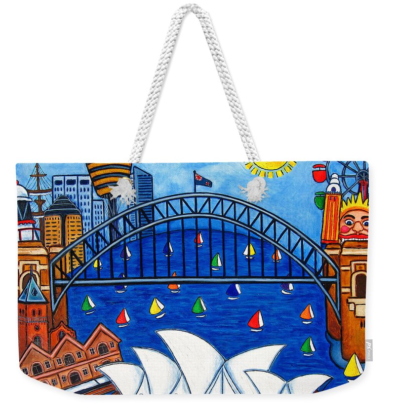 House Weekender Tote Bag featuring the painting Sensational Sydney by Lisa Lorenz