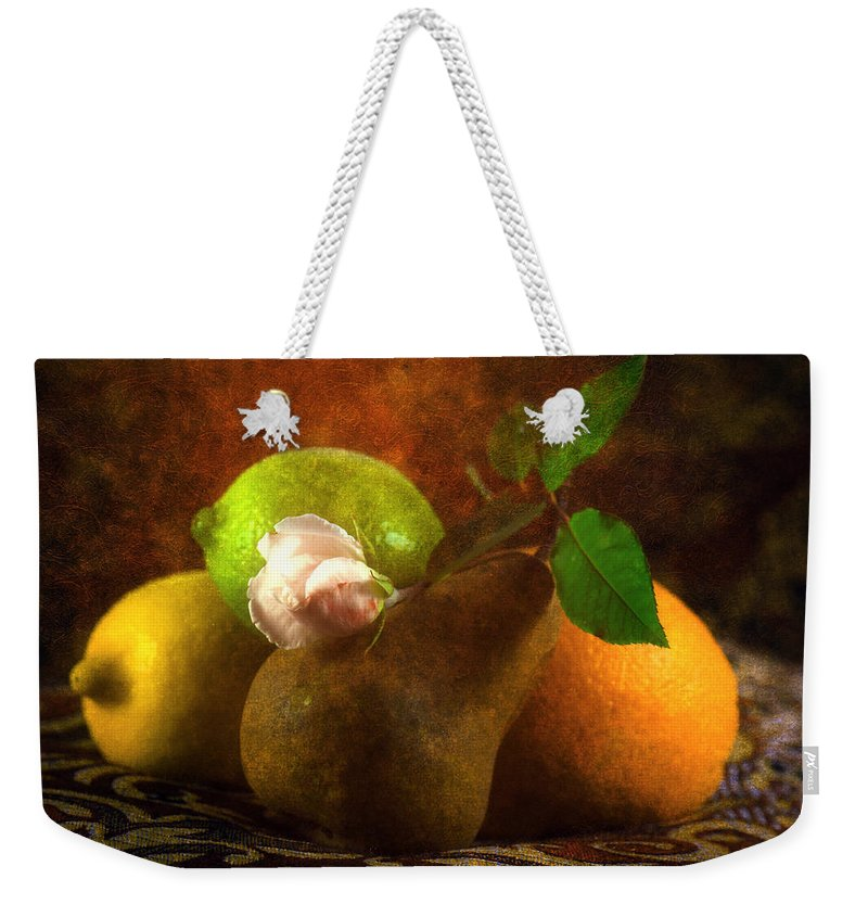 Sensual Weekender Tote Bag featuring the photograph Sensual by Georgiana Romanovna
