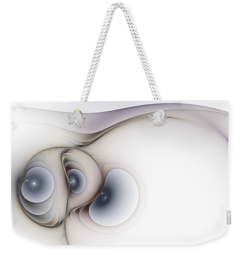 Abstract Weekender Tote Bag featuring the digital art Sensual Manifestations by Casey Kotas