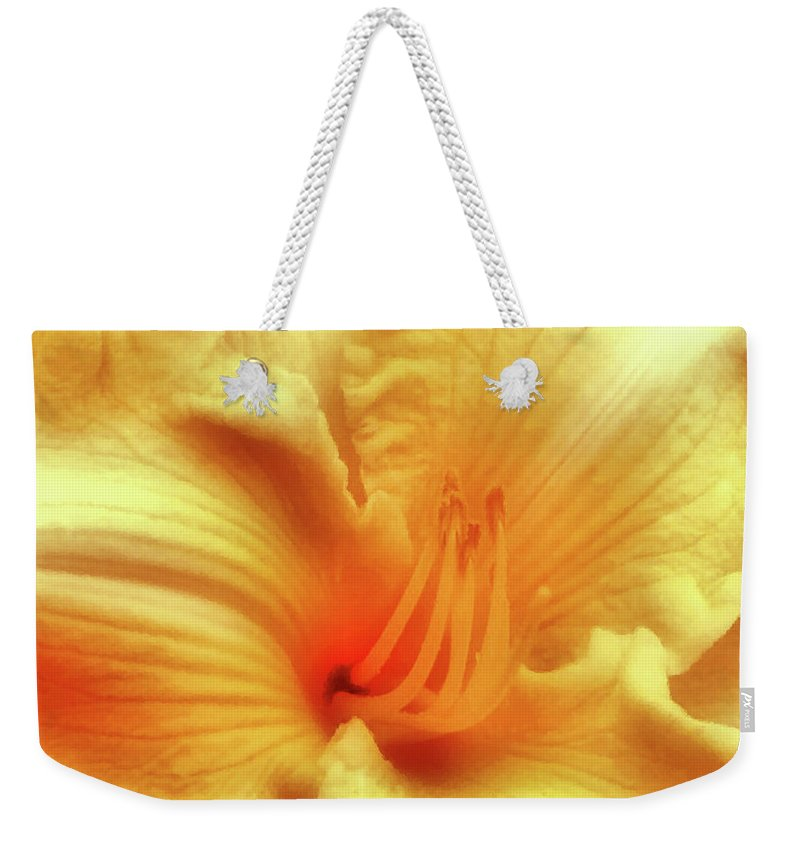 Lily Weekender Tote Bag featuring the photograph Sensuous Lily by Kristin Elmquist