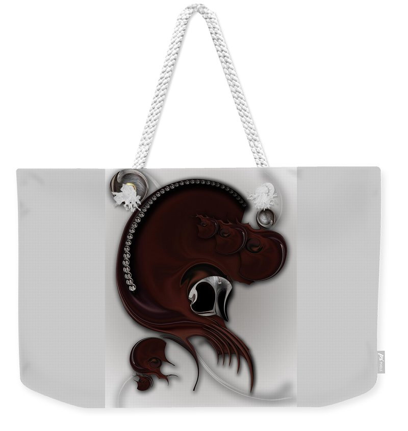 Sentiment Weekender Tote Bag featuring the digital art Sentiment And Muse by Carmen Fine Art