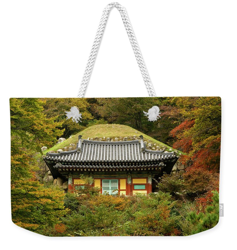Asia Weekender Tote Bag featuring the photograph Seokguram Grotto by Michele Burgess